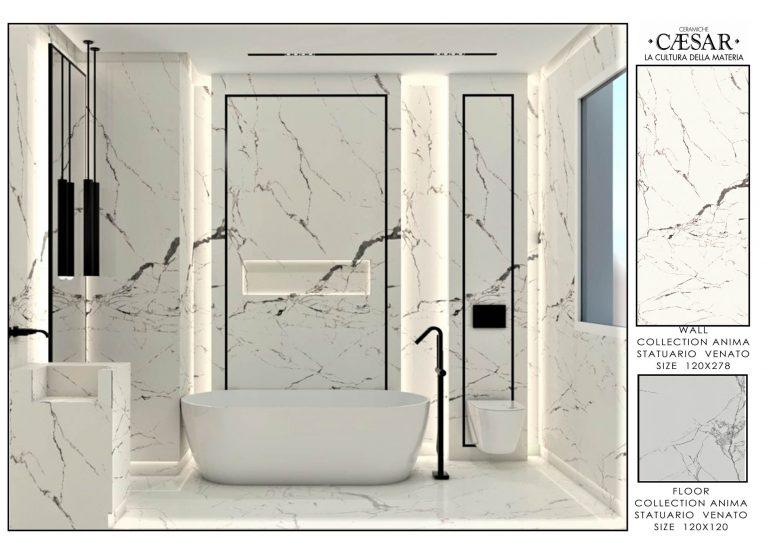 Ceramiche Caesar BaMASTER BATHROOM WHITE &GREY ACCESSORIES 1