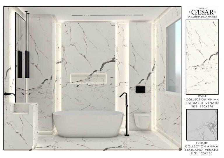 Ceramiche Caesar Bathroom-MASTER BATHROOM ONLY WHITE 1